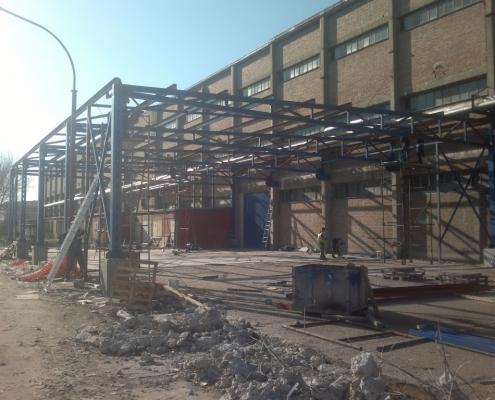 Izgradnja hale, filmskog studia u Krnjači