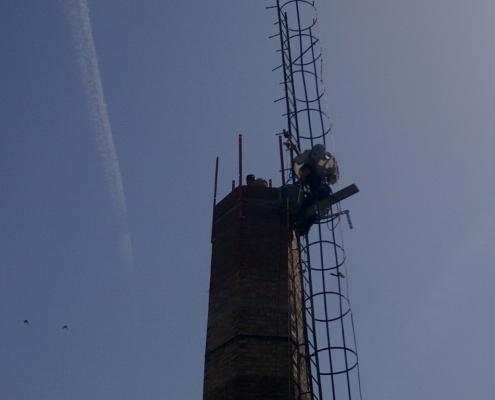 Sanacija i zidanje šestougaonog dimnjaka u Nišu
